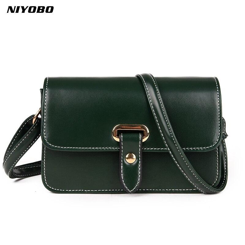 NIYOBO leather Women Messenger Bags Ladies Handbags Little Square Package Zipper Handbag Designers envelope crossbody bag