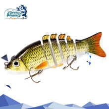 1pcs Fishing Lures Swimbait Crankbait Hard Bait Slow 2 Colors 6 Segment Fishing Wobbler Isca Artificial