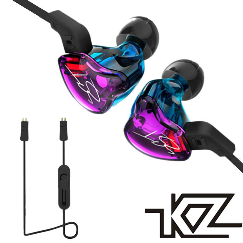 KZ ZST Hybrid Hifi Earphones for Xiaomi Stereo Headset Balanced Armature Dynamic Earbuds Headphone Silver Bluetooth Cable