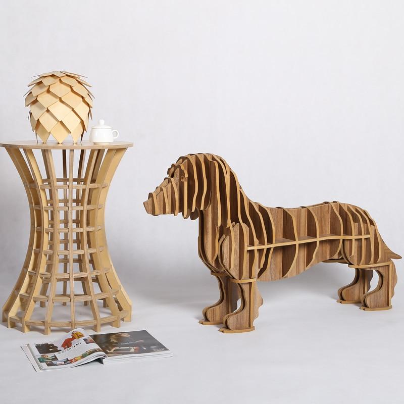 1 set 23 45 inch 10mm mdf creative wood crafts dachshund desk art home decoration wooden. Black Bedroom Furniture Sets. Home Design Ideas