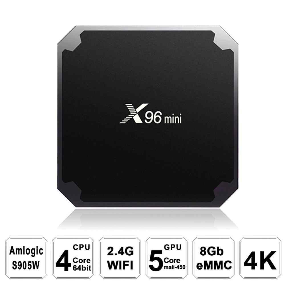X96 mini tuner telewizyjny Android 7.1 X96mini smart tv box 4K * 2K czterordzeniowy Amlogic S905W 2GB 16GB + kabel IR nie ximiao iptv box smarttv