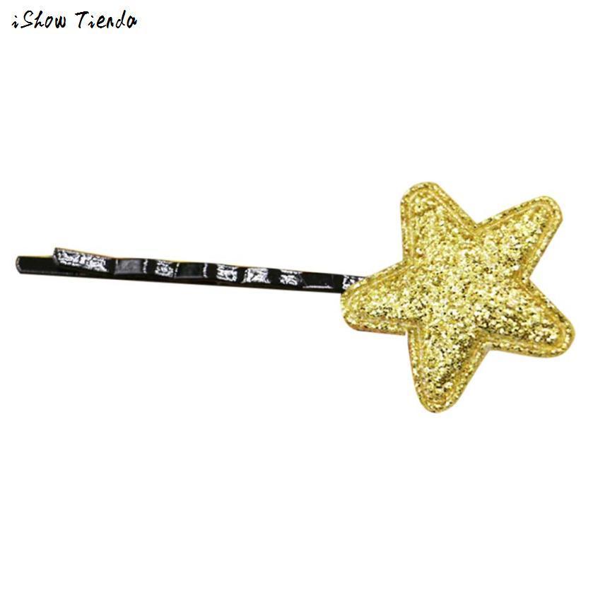 Аксессуары для волос Блестки пятиконечная Звезда Зажим Для Волос Милые Заколки Принцесса Шпилька Acessorio Para Cabelo #1102
