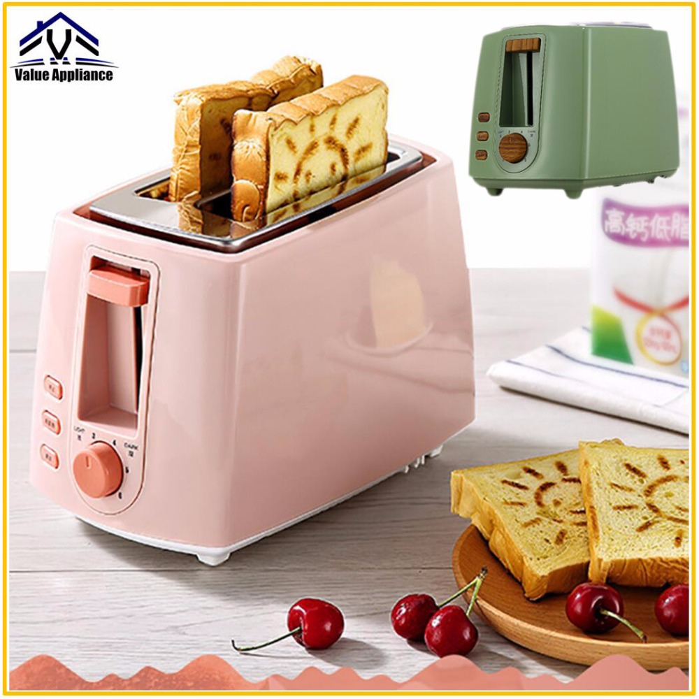 Quality 2 Slices Bread Toaster with Smile Mark Maker household automatic toaster Breakfast spit driver Breakfast Machine