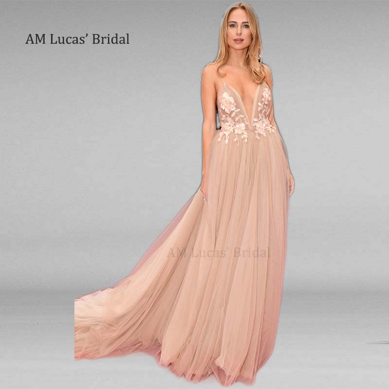 Sexy A Line Long   Evening     Dresses   Flowers Women 2019 New Women Formal Gown For Prom Wedding Party   Dresses   Robe De Soiree