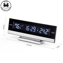 LCD çalar saat büyük ekran LED ekran elektronik çalar saat çalar saat masa sıcaklık nem saati elektronik çalar saat çalar saat