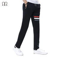 Spring Breathable Pants Skinnly Pencil Pants Men Slim Fit Mens Casual Pants Straight Elastic Trousers Pencil Feet Pants Men 613