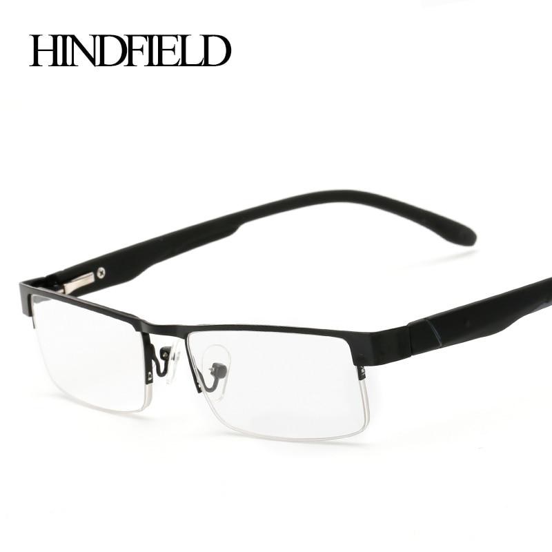 Image 2016 Alloy Half Reading Glasses Women Men Prescription Lenses +100,+200,+300,+400 CJ131