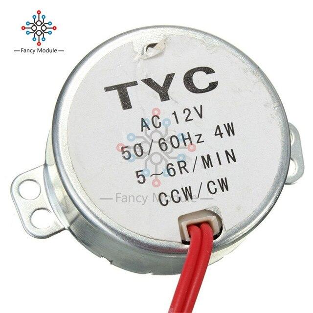 Pro TYC moteur synchrone 50 12V 4W 50 / 60Hz | Moteur de plateau pour four à micro-ondes CCW 5/6RPM, moteur de four à micro-ondes 12V à faible bruit