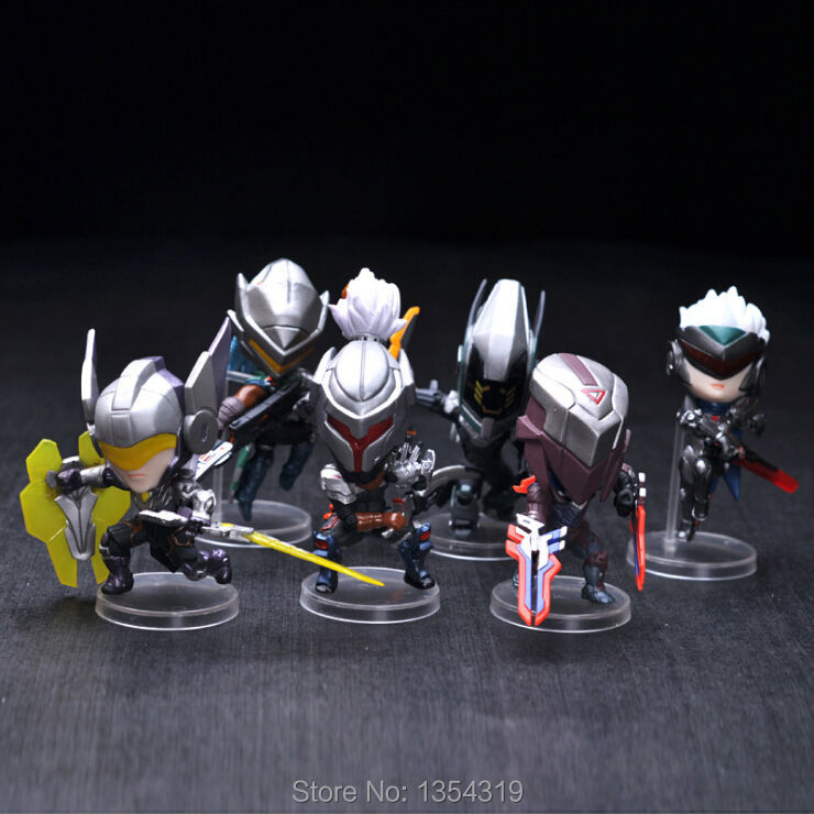 New 6pcs/set game action figure model toy Lucian Master Yi Fiora Leona Zed Yasuo pvc statue kids model brinquedos juguetes hot lucky shot drinking roulette game 6 cup set