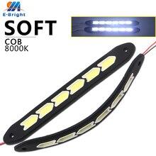 1 set Square 32cm Bendable led Daytime Running light 100% Waterproof COB Day time Lights flexible LED Car DRL Driving lamp