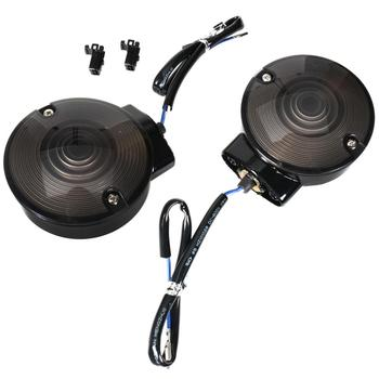 Rear Gloss Black Aluminum Housing&Turn Signal With Smoked Lens Fit For Harley Electra Glide Road King Models