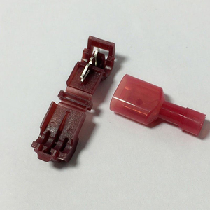 Image 3 - 10 יח\חבילה מסוף בלוק שבור כבל מסופי TC כבלי חיבור אדום כרטיס סיליקון מחבר מהדק קליפ T סוג חשמלי