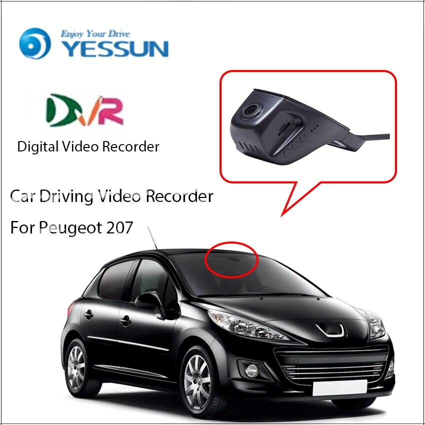 Enregistreur vidéo numérique YESSUN Car DVR pour Peugeot 207 caméra de stationnement non inversée caméra frontale Dash HD 1080 P