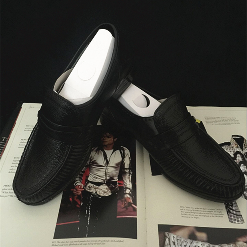 Retro MJ Michael Jackson Classic Collection Easy Moonwalk Dancing Punk  Leather shoes Party Hallowmas Gift-in Shoes from Novelty   Special Use on  ... cc2dfa3ac