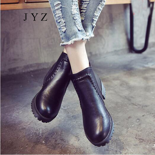 2017 New Fashion Womens Ankle Boots Winter Fur Warm Shoes Hightops Woman Casual Leisure Shoes Plus Big Large Size 40 41 42 43 big size winter warm leisure shoes