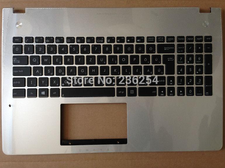 Prix pour Nouveau hu hongrois clavier pour asus n56 n56 n56d n56dp N56DY N56V N56VB HU Win8 avec rétro-éclairé avec topcase Ordinateur Portable clavier