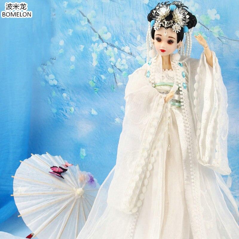Déesse de la lune Chang E beauté poupée fait à la main Costume chinois 12 Jointed Bjd 1/6 poupées jouets fille anniversaire cadeaux Collection