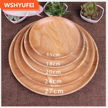 1PCS Rubber wood snack dish Japanese wooden dishes snacks fruit plate solid  hotel tableware wholesale dropshipping