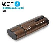 QZT CNC алюминиевый сплав аудио рекордер 8 Гб U диск цифровой USB флэш-накопитель Диктофон профессиональный звук Запись Диктофон