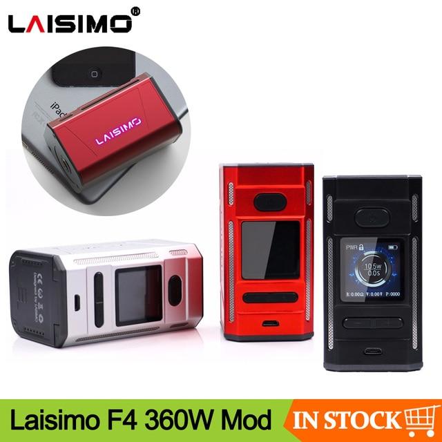 Trasporto libero di promozione Originale Laisimo F4 360W TC Box Mod Alimentato da 2 O 4 Batterie NI200 Ti SS Sigaretta Elettronica mod Per 510 Discussione