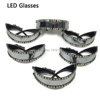 Оптовая продажа 10 шт. LED очки RAVE светодиод светящиеся очки для вечеринок пасхальное Рождество Хэллоуин, день рождения ночь бар танец украшен