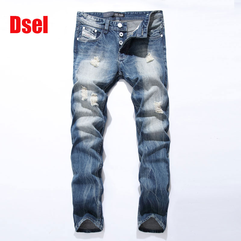 2017 new men jeans dsel brand ripped jeans men distressed