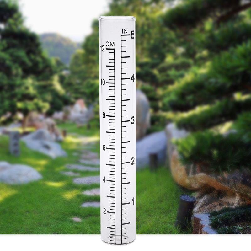 2 Pièces Clair Capacité Verre Pluviomètre Remplacement Tube Extérieur Jardin Cour Maison Une Performance SupéRieure