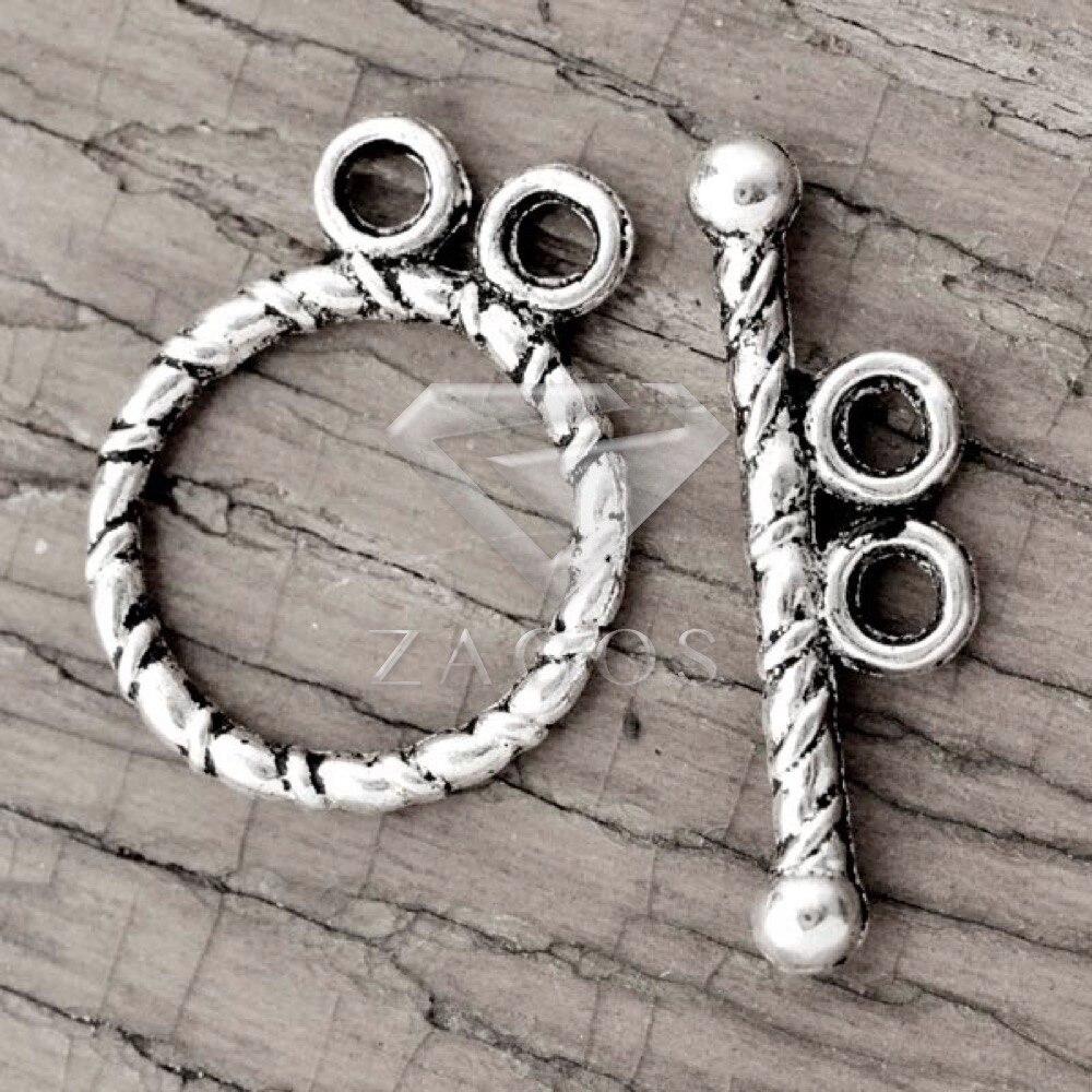 Тибетский Античный Серебряный тон круглое кольцо Переключить цинковый сплав  ювелирные делать выводы Fit Браслет Цепочки и ожерелья . b20fd71cb53