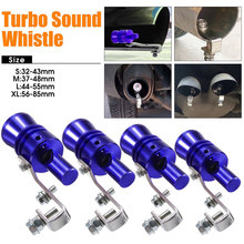 Blue Fashion Durable Pipe Whistle Simulator Best Gifts Exhaust Muffler Automobile Sound Whistle Car Decoration Blowoff