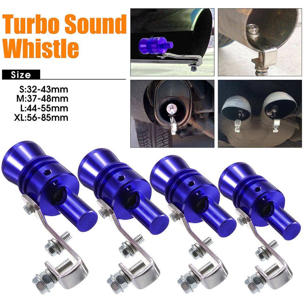 Blue Fashion Durable Pipe Whistle Simulator Best Gifts font b Exhaust b font Muffler font b