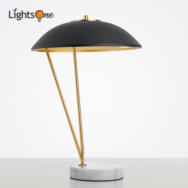 retro estudo de cobre e trabalho conduziu a luz da mesa moderno e minimalista moda europeia