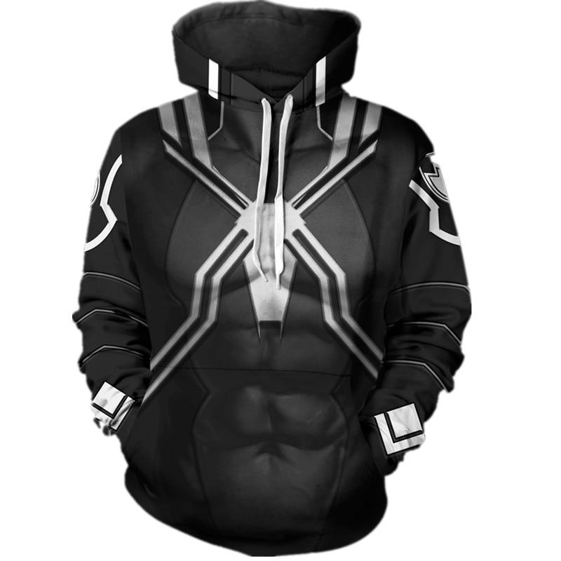 Edward Brock Venom Cosplay Costumes Spider-Man 3D printing Hoodies Men Clothing 3D Print Sweatshirt Popular Hoody Streetwear