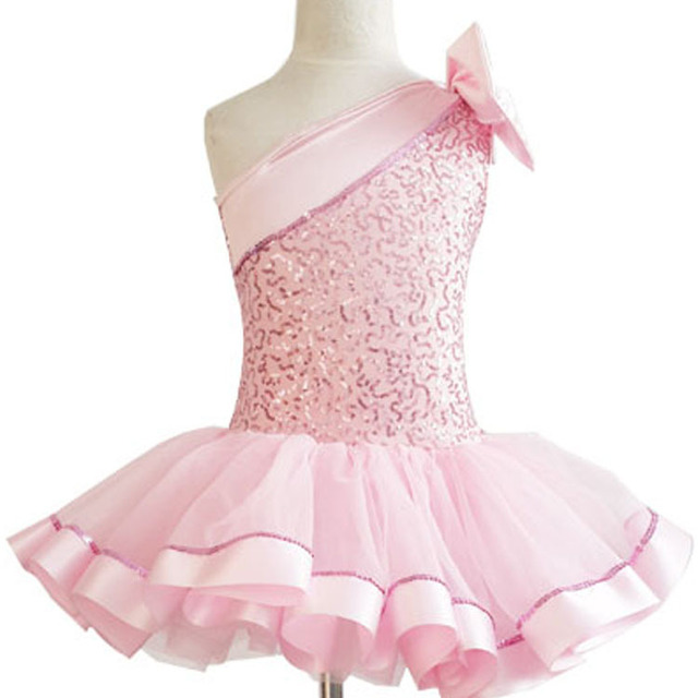 9be23b4a27d5 Pink Tutu Ballet Leotard Dancing Dress Kids Girls Dance Wear Ballet ...