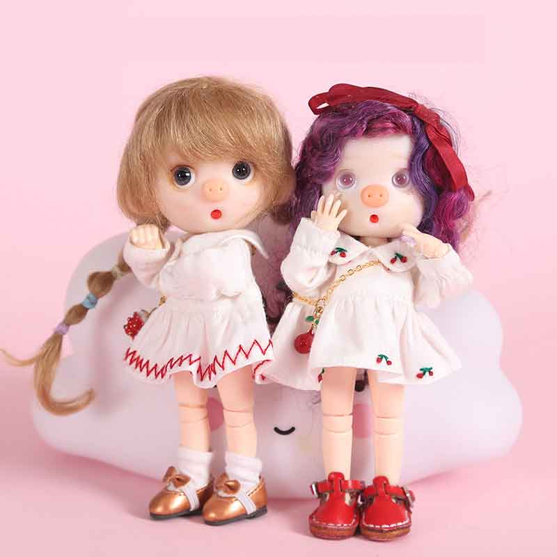 1PCS New Arrival Obitsu11 OB11 1/12 Doll Dress Cute Doll Clothes Skirt  For OB11 Doll  Accessories