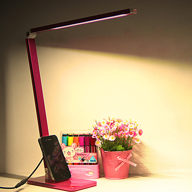 T 2016 New Simple Creative Led Eye Protection Table Lamps Reading Working Light Desk Lamps Soft For Study Bedroom DHL FREE