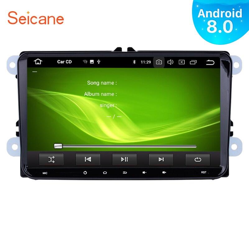 Seicane 2Din Android 9 0 9 GPS Car Radio Multimedia Player For VW BORA Polo Golf