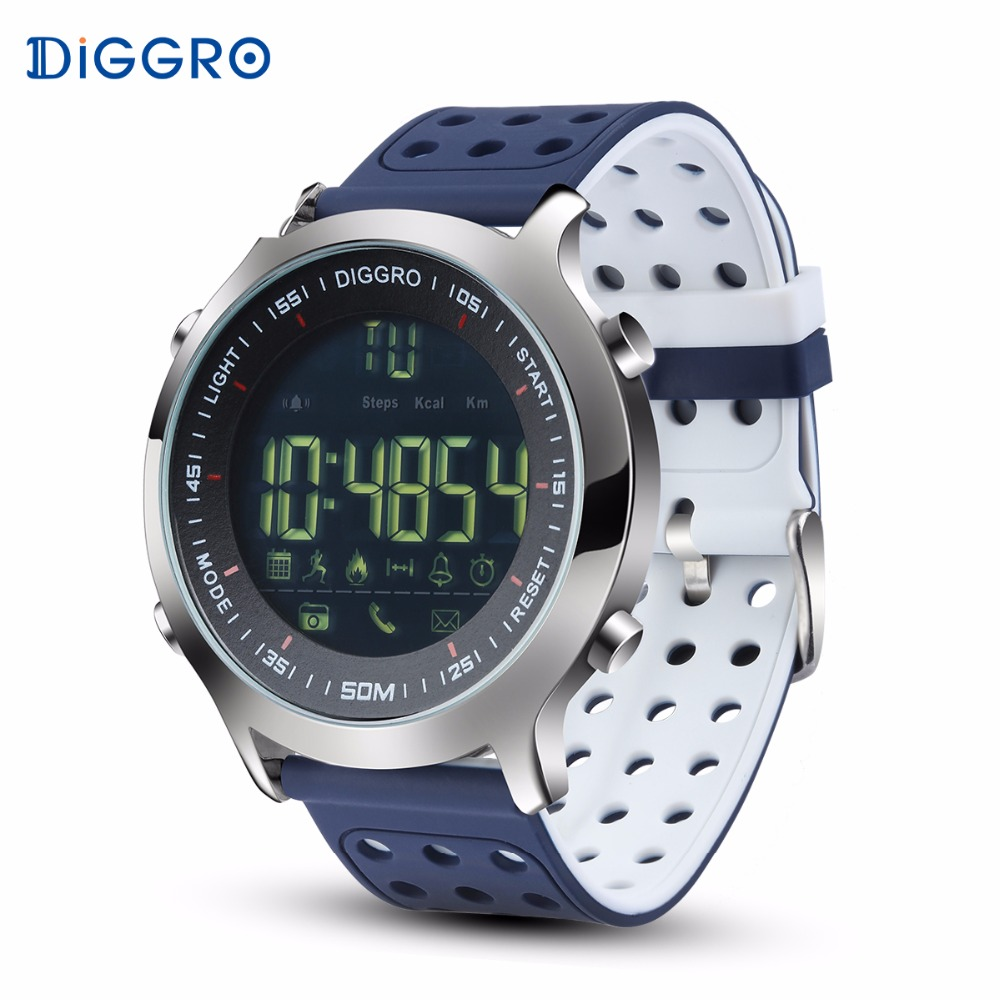 Diggro DI04 Smart Watch IP68 Waterproof 5ATM Pedometer Step Calories Counter Swim Fitness Watch Connect to Phone PK NO.1 F3 image