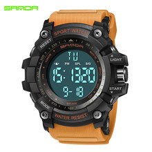 2018 SANDA Digital Watch New Luxury Brand Military Fashion Men Sport Alarm Stopwatch Clock Male Relogio Masculino