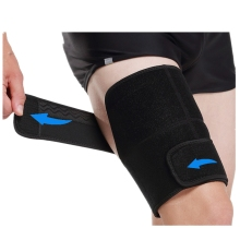 цены 1 PC Sports Thigh Brace Support Adjustable Quadriceps Support Thigh Wraps Neoprene Non-Slip Thigh Guard Protection for Men Women