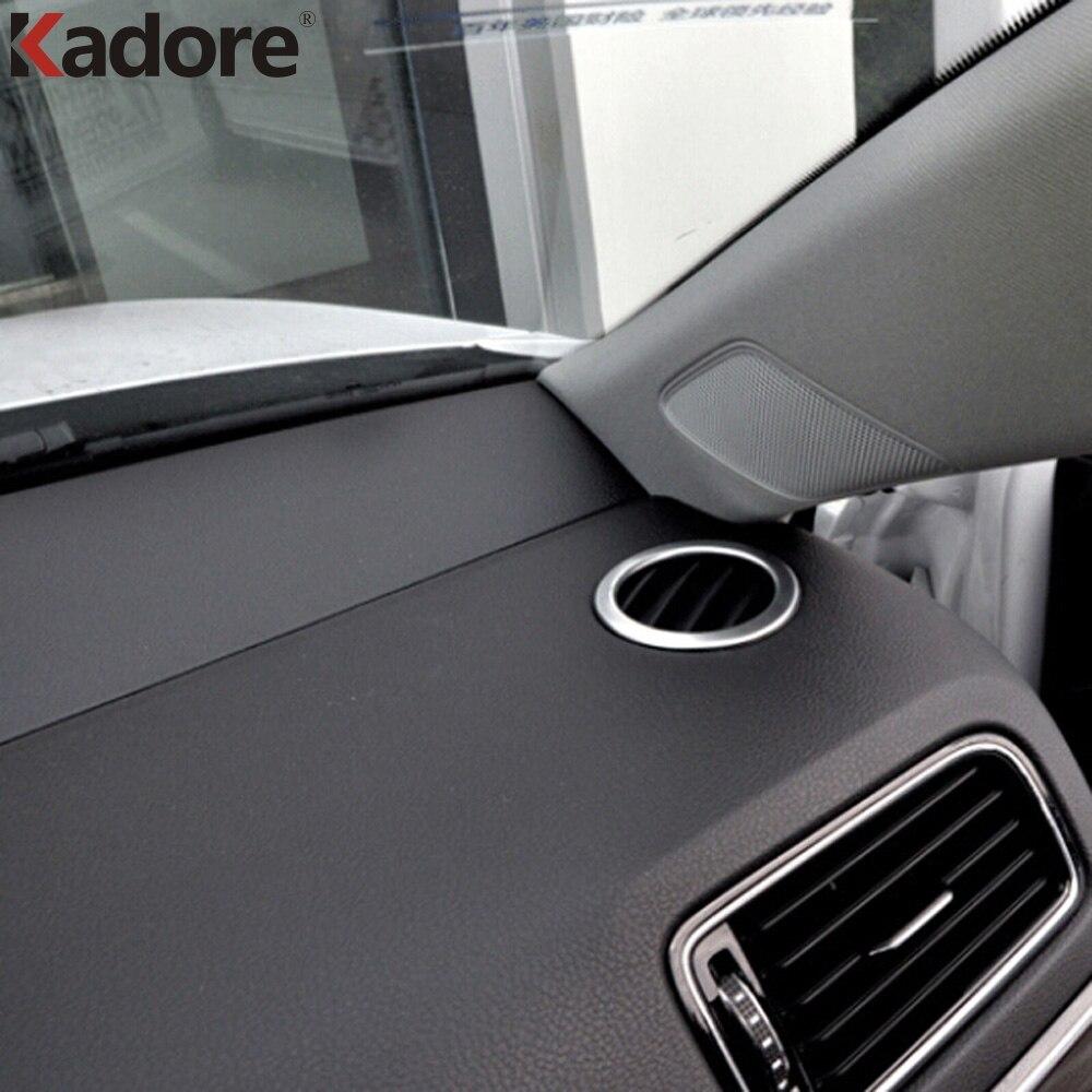 For Volkswagen VW Jetta 6 MK6 2015 2016 ABS Matte Round Outlet font b Box b
