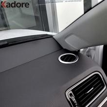 Для Volkswagen VW Jetta 6 MK6 2015 2016 ABS Матовый круглая коробка розетки украшения внутренняя круговой воздуха условного AC Vent крышка отделка