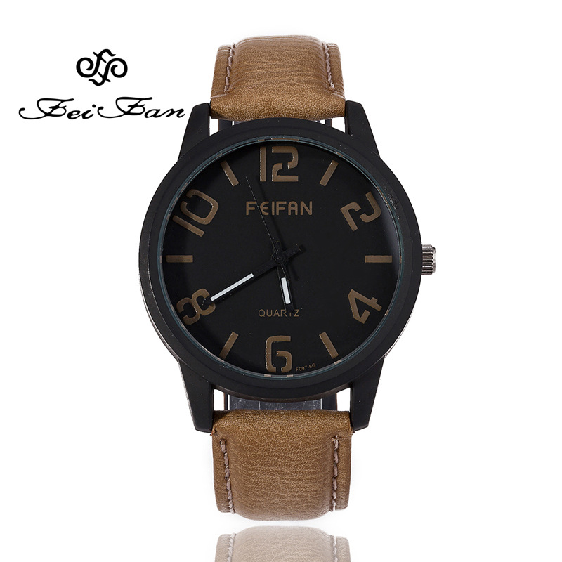 New Fashion Casual Quartz Watch For Men and Women 2016 FEIFAN Popular Brand Sport Unisex Watches High Quality Leather Wristwatch feifan brand watches fashion sport watches for women new arrival 2016 high quality quartz watches japan movement case fp135