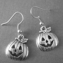 Design Silver Bijoux Happy Halloween Pumpkin Drop Earrings For Women Retro Fashion Jewelry Dangle Earrings Statement Earrings