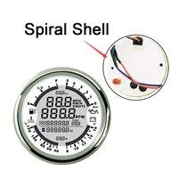 Dashboard GPS speedometers Spiral Shell Fuel Oil pressure meters Volt meter Water temp 6 in 1 gauges fit for Auto Boat Gauges