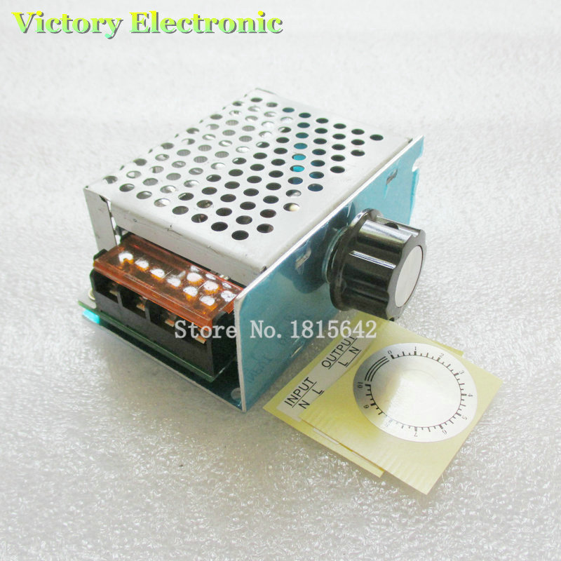 4000W 0-220V AC SCR Electric Voltage Regulator Motor Speed Control Controller With Shell Hot Sale