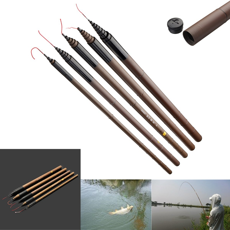 Fishing Rod Carbon Fiber Telescopic Ultra Light Carp Fishing Pole