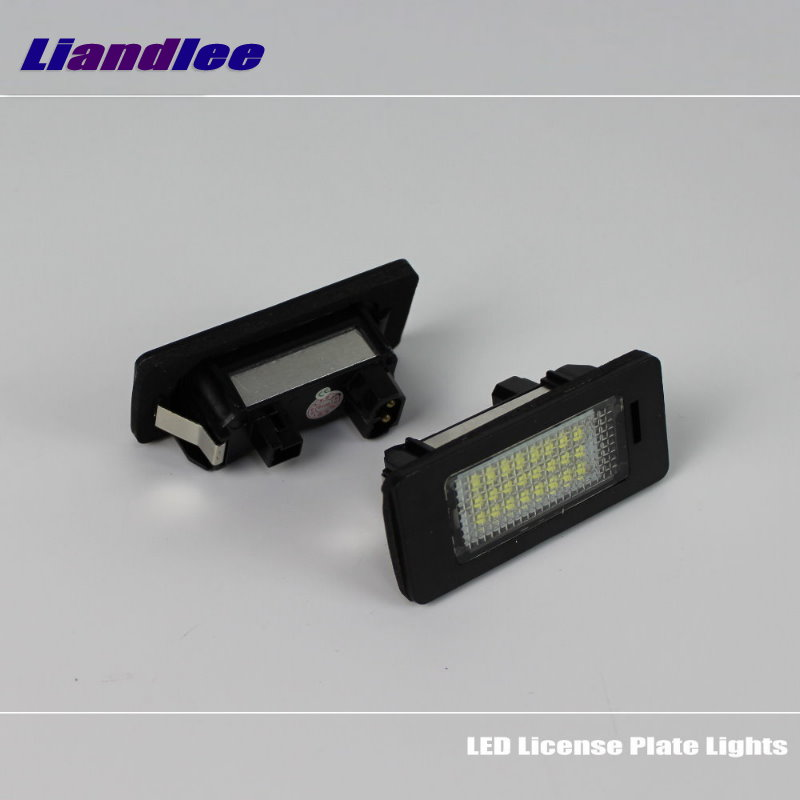 Liandlee For BMW 1 Series E82 E88 2007 2013 LED Car License Plate Lights Number Frame Light High Quality LED Lamp in Signal Lamp from Automobiles Motorcycles