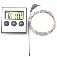 1PC Newest Rushed Digital Thermometer For Oven Free Digital Lcd Display Probe Food Thermometer Timer Cooking