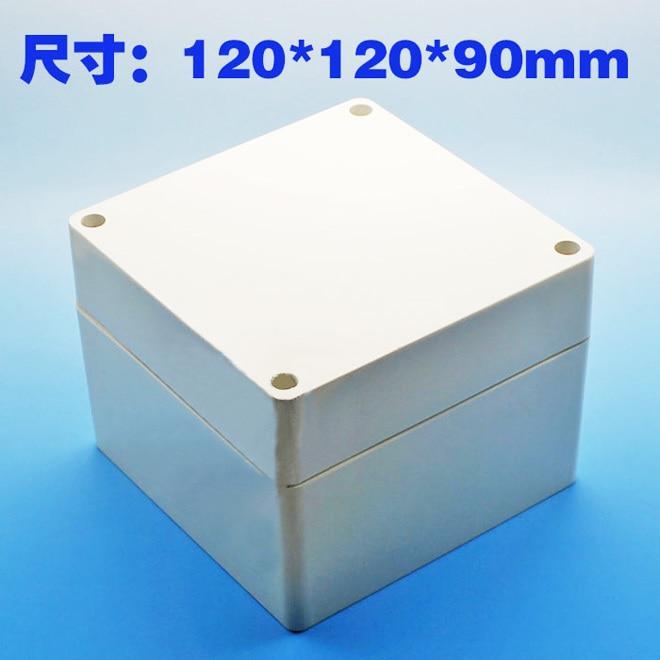 Plastic Enclosure waterproof Project Box Instrument Enclosure Case 120*120*90mm DIY NEW