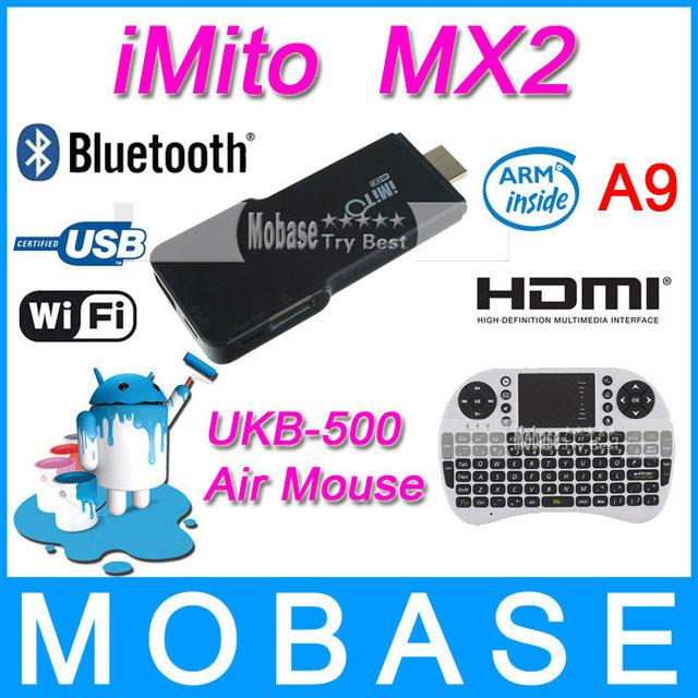 iMito MX2 Bluetooth Google TV Box RK3066 1G/8G Android 4.1 Dual Core Cotex A9 Quad-Core GPU WiFi HDMI [ Free UKB 500 Air Mouse ]